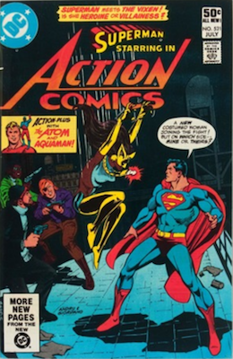 Action Comics #521: 1st Vixen. Click for values