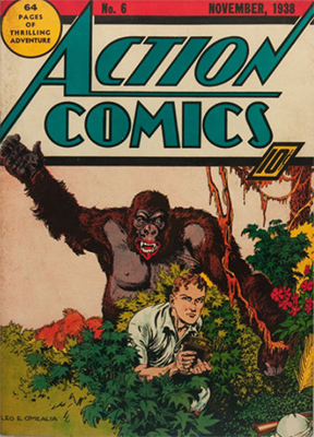 Action #6: First appearance of Jimmy Olsen. Click for values