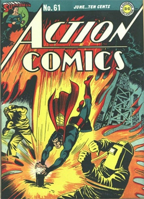 Action Comics #61: Classic atomic radiation cover. Click for value