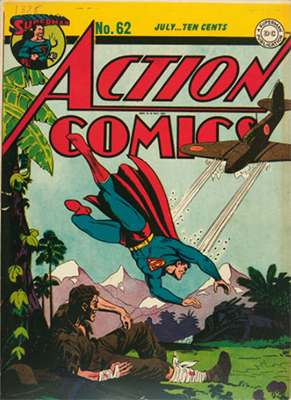 Action Comics #62: Japanese war cover. Click for value