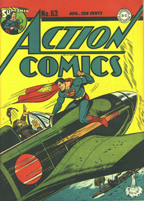 Action Comics #63: Japanese war cover. Click for value