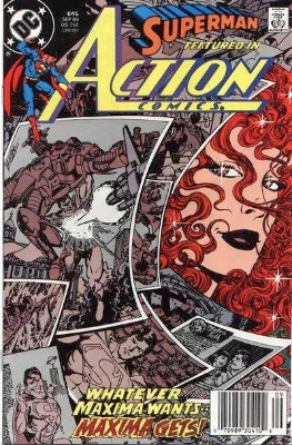 Origin and First Appearance, Maxima, Action Comics #645, DC Comics, 1989. Click for value