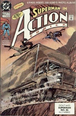 Origin and First Appearance, Blaze and Satanus, Action Comics #655, DC Comics, 1990. Click for value