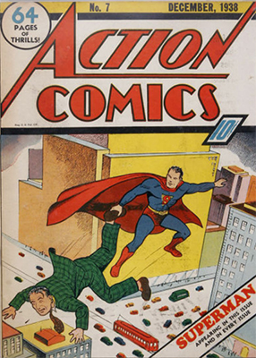 Action Comics #7 (December 1938): Second Cover Appearance of Superman. Click for values
