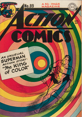 Action Comics #89: Classic rainbow cover. Click for value