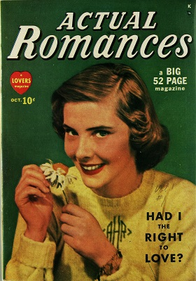 Actual Romances #1: First issue of the series. Click for values
