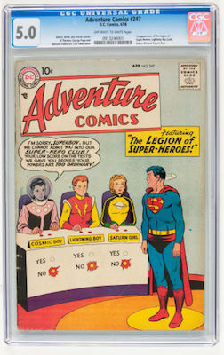 Adventure Comics #247 is a tough book. Don't drop below CGC 5.0, which starts at $2K. Click to buy