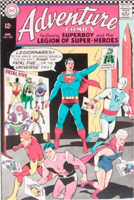 Origin and First Appearance, Fatal Five, Adventure Comics #352, DC Comics, 1967. Click for value