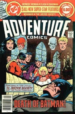 Adventure Comics #461 and #462: Death of Earth Two Batman. Click for value