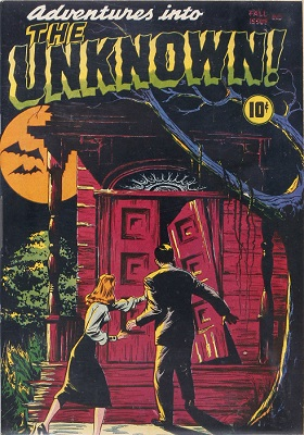 Adventures in the Unknown #1 (1948): Earliest Ongoing Series of Horror Comic Books. Click for value