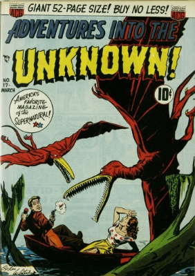 Adventures into the Unknown issue #17. click for values