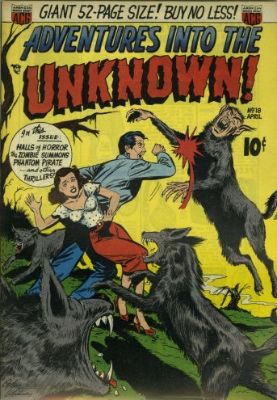 Adventures into the Unknown issue #18. click for values
