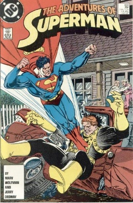 Origin and First Appearance, Deuce and Charger, Adventures of Superman #430, DC Comics, 1987. Click for value