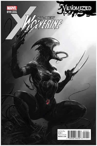 All New Wolverine 19 Mattina Sketch (2017). Click for values