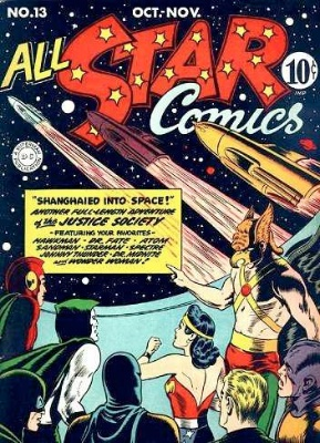 Click to check the value of the Golden Age comic, All-Star Comics #13
