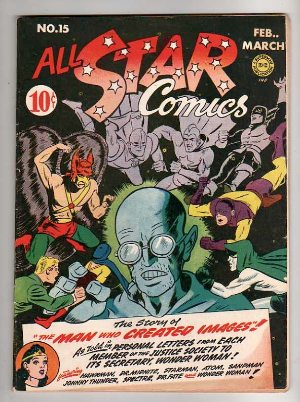 All Star Comics #15: First Appearance of Brainwave. Wonder Woman on cover.