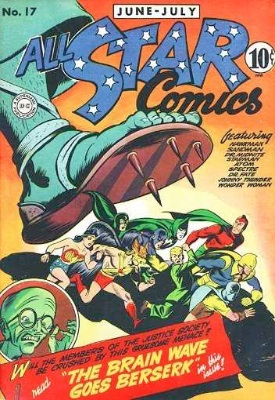 Click to check the value of the Golden Age comic, All-Star Comics #17