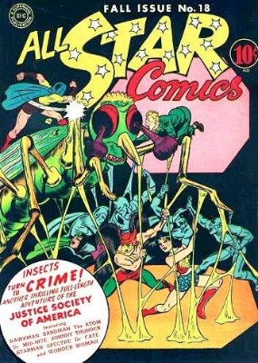 Click to check the value of the Golden Age comic, All-Star Comics #18