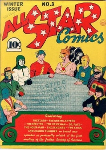 All Star Comics #3 established that DC characters coexisted in the same universe. Click for price guide