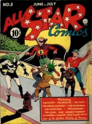 All-Star #5: First appearance Shiera Sanders as Hawkgirl, the first ever costumed super heroine. Click for value