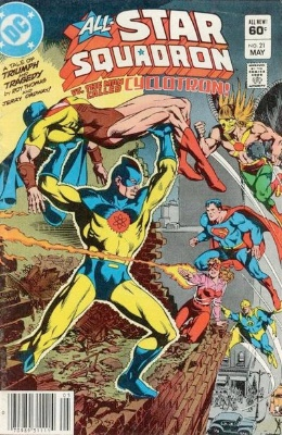 Origin and First Appearance, Deathbolt, All-Star Squadron #21, DC Comics, 1983. Click for value