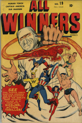 All-Winners Comics #19 (Fall 1946): First Appearance of the All-Winners Squad. Click for values