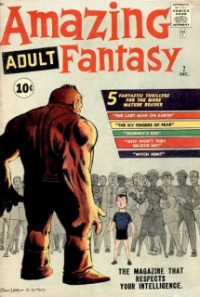 Amazing Adult Fantasy #7 led to the eventual conclusion of Amazing Fantasy #15 and Spider-Man. Click for current market value.