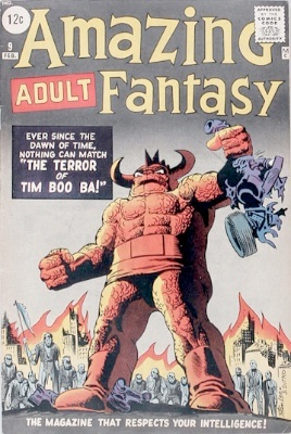 Origin and First Appearance, Tim Boo Ba, Amazing Adult Fantasy #9, Marvel Comics, 1962. Click for value