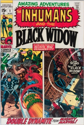 Amazing Adventures #1: Black Widow Stars. Click for values