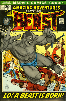 DROPPED OUT OF THIS YEAR'S LIST. Amazing Adventures #11, 1st Furry Beast. Click to buy a copy