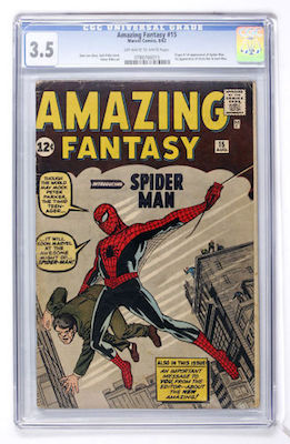 You can only be so picky when buying lower grade copies of Amazing Fantasy #15. Try to find a copy with minimal damage to the front. Click to invest
