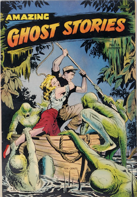 Amazing Ghost Stories #14, Matt Baker cover. Click for values