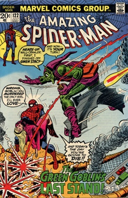 Amazing Spider-Man #122 (1973): Death of Green Goblin. One of the most valuable comic books of the Bronze Age. Click for values