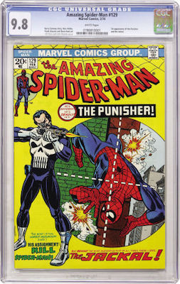 We recommend pushing the boat out for an Amazing Spider-Man #129 in CGC 9.8 with white pages. This is a tough book in this grade. Click to buy a copy