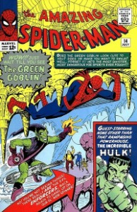 Amazing Spider-Man #14. First appearance of The Green Goblin, and Hulk crossover