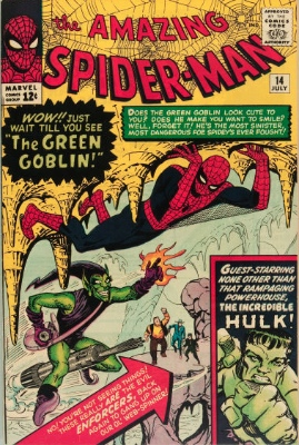 Hot Comics #14: Amazing Spider-Man #14, 1st Green Goblin. Click to buy a copy