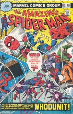 Amazing Spider-Man #155 30 Cent Price Variant April, 1976. Starburst Blurb