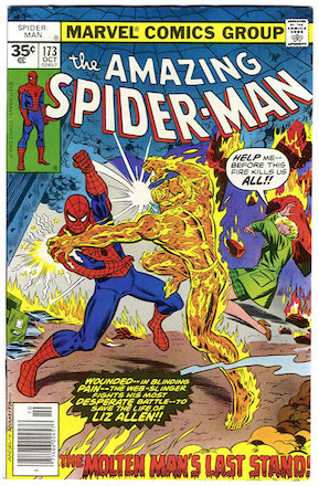 Amazing Spider-Man #173 Marvel 35 Cent Price Variant