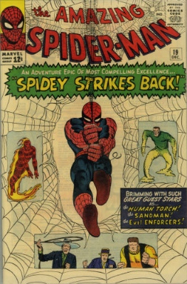 The Chameleon (Amazing Spider-Man #19, December, 1964). Click for values