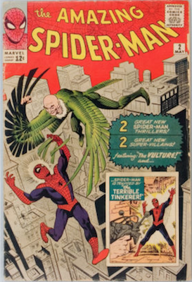 An average copy of ASM #2 looks like this, in GD-VG shape. It's worth in the $450-600 range. Click for values