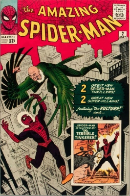 Origin and First Appearance, Terrible Tinkerer, Amazing Spider-Man #2, Marvel Comics, 1963. Click for value