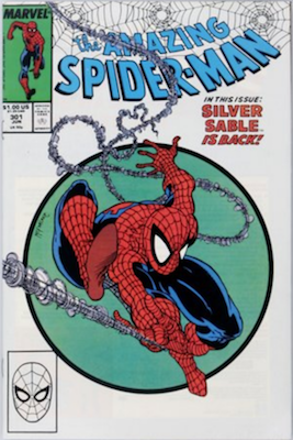 Amazing Spider-Man #301 (1988): Classic McFarlane Cover; Tough in 9.8 Shape. Click for value