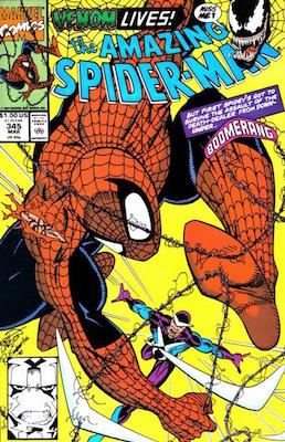 Amazing Spider-Man #345: Carnage appearance. Click for values