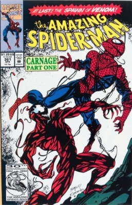Top 20 Hot Comics #14: Amazing Spider-Man #361, First Appearance of Carnage. Click for value