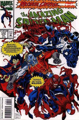 Amazing Spider-Man #380: Maximum Carnage crossover. Click for values