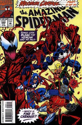 Amazing Spider-Man #380, Maximum Carnage crossover. Click for values