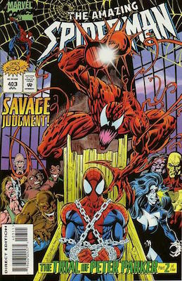 Amazing Spider-Man #403. Click for values