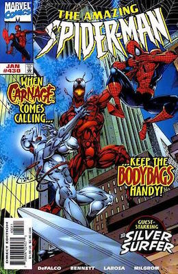 Amazing Spider-Man #430: Carnage cover appearance. Click for values