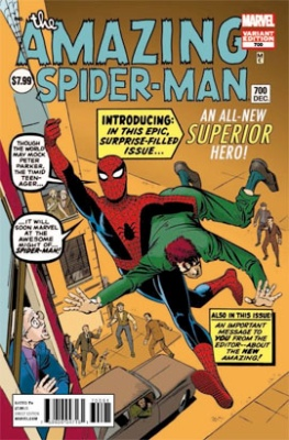 Amazing Spider-Man #700 (2013): Steve Ditko cover variant. Click for value