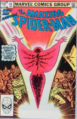 Origin and First Appearance, Monica Rambeau, Amazing Spider Man Annual #16, Marvel Comics, 1982. Click for value